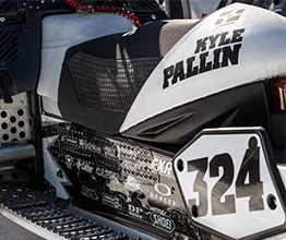 Kyle Pallin's Snocross Traction Seat Cover