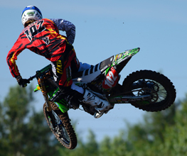Austin Politelli Jumping Dirtbike with Stompgrip Custom Seat Cover