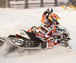 Levi LaVallee Snowmobile turn