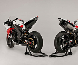 Yamaha Bikes with Stompgrip Traction Back