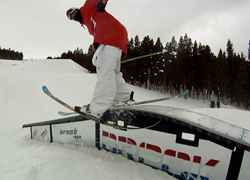 Dane Grashuis Skiing rail