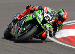 Tom Sykes Turning on Streetbike